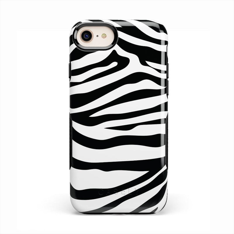 Into the Wild | Zebra Print Case iPhone Case Get.Casely Bold iPhone 8