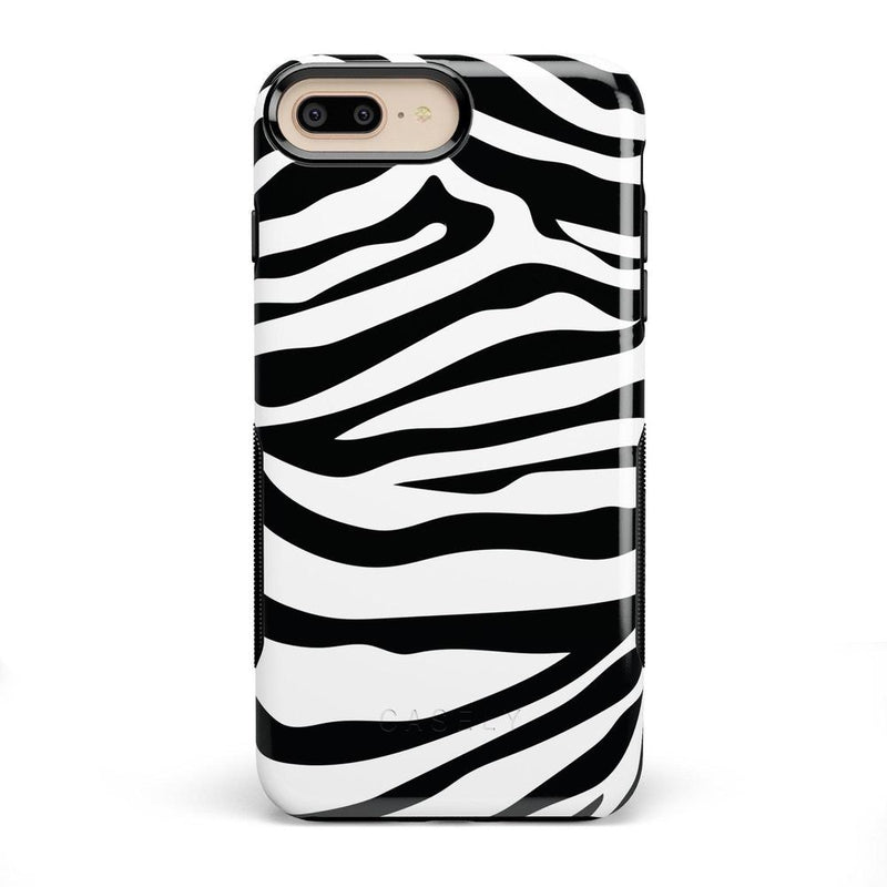 Into the Wild | Zebra Print Case iPhone Case Get.Casely Bold iPhone 8 Plus