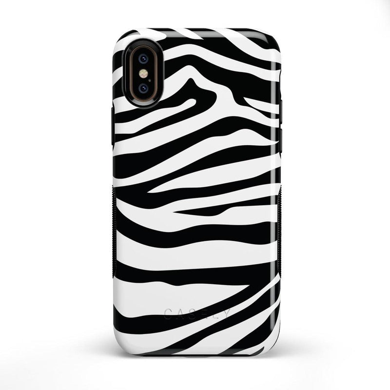 Into the Wild | Zebra Print Case iPhone Case Get.Casely Bold iPhone X / XS