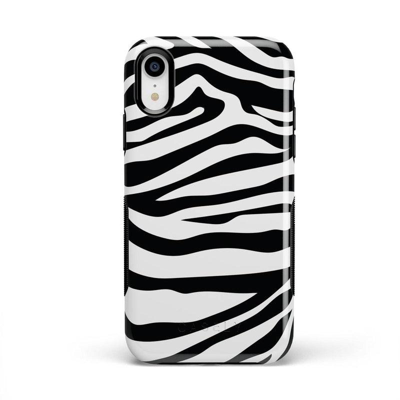 Into the Wild | Zebra Print Case iPhone Case Get.Casely Bold iPhone XR