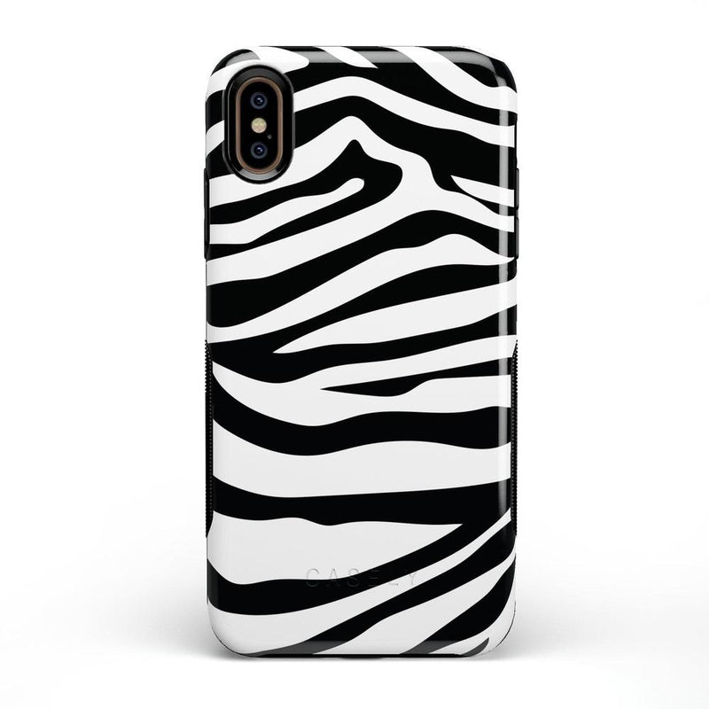 Into the Wild | Zebra Print Case iPhone Case Get.Casely Bold iPhone XS Max