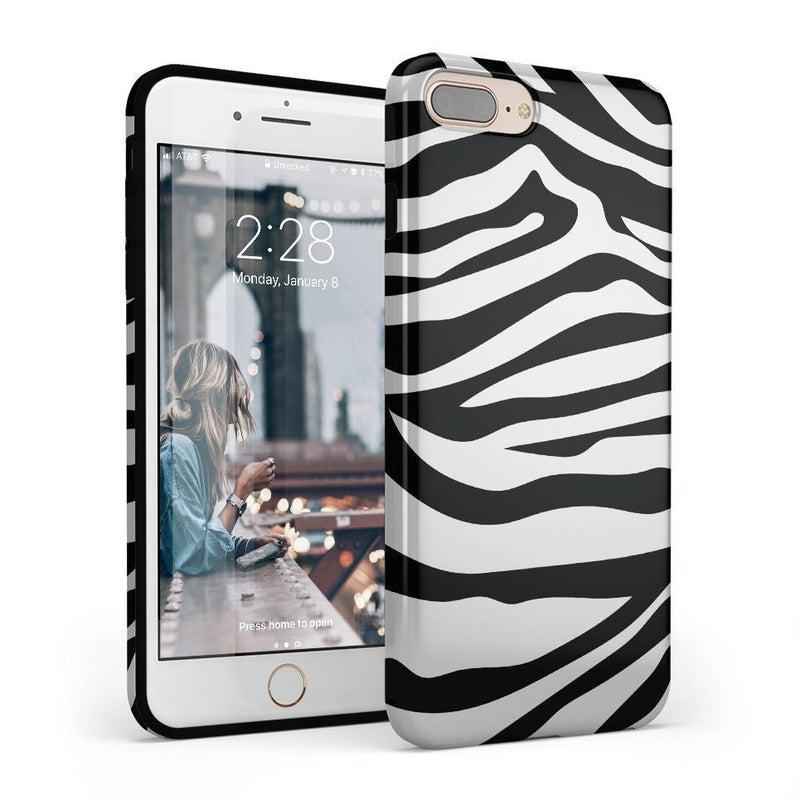 Into the Wild | Zebra Print Case iPhone Case Get.Casely Classic iPhone 8 Plus