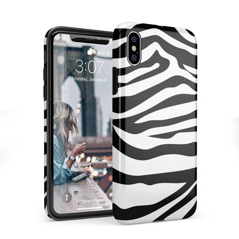 Into the Wild | Zebra Print Case iPhone Case Get.Casely Classic iPhone X / XS