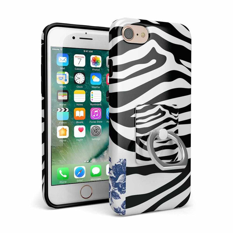 Into the Wild | Zebra Print Phone Ring Phone Ring Get.Casely
