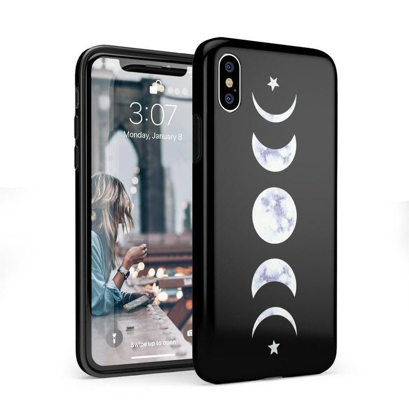 It's Just a Phase | Marble Moon Case iPhone Case Get.Casely Classic iPhone X / XS