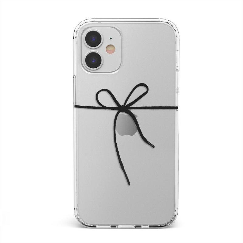 Knot Over U Clear Ribbon Case iPhone Case get.casely Classic iPhone 12 Mini