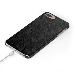Lace Me Up Black Lace Case iPhone Case get.casely