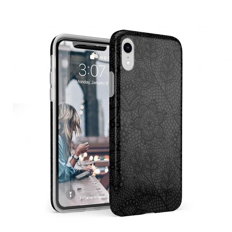 Lace Me Up Black Lace Case iPhone Case get.casely Classic iPhone XR
