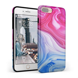 Land & Sea Marble Swirl iPhone Case iPhone Case get.casely Classic iPhone 8 Plus