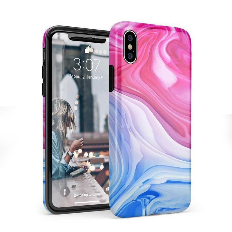 Land & Sea Marble Swirl iPhone Case iPhone Case get.casely Classic iPhone X / XS