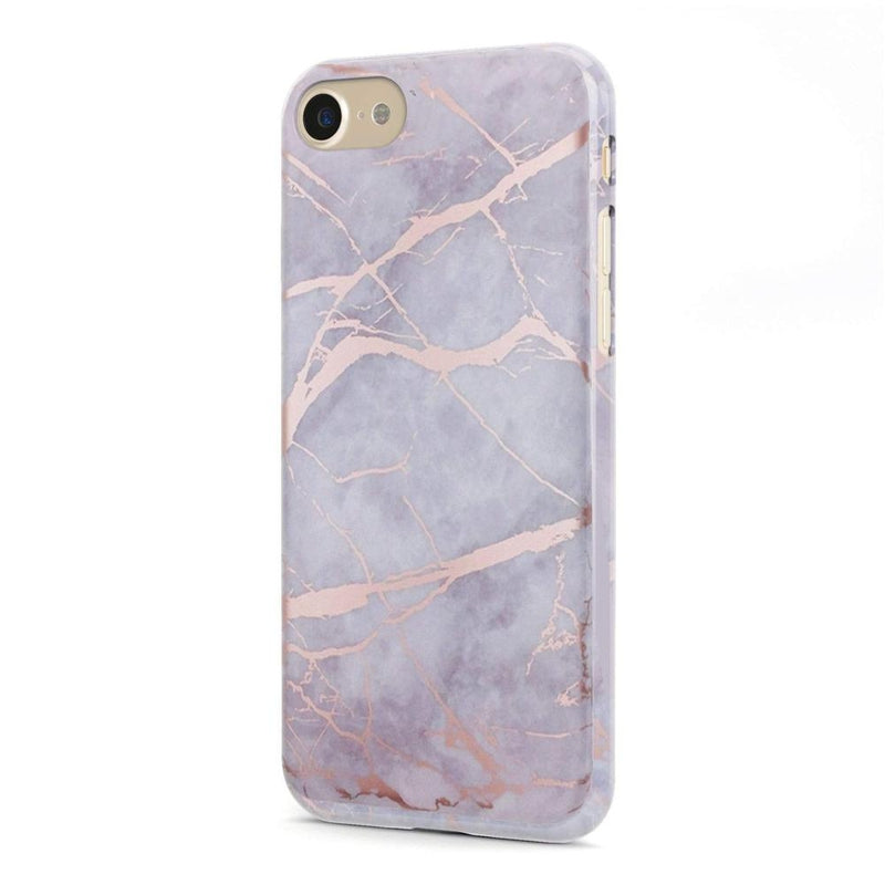 Lavender Gray & Rose Gold Marble Case iPhone Case Get.Casely