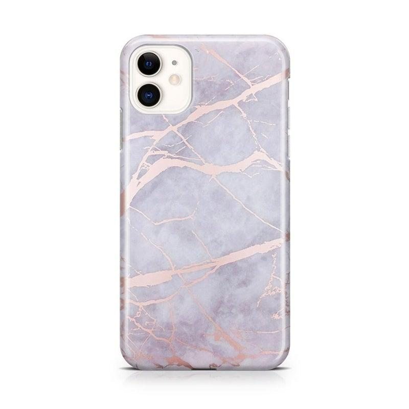Lavender Gray & Rose Gold Marble Case iPhone Case Get.Casely Classic iPhone 11