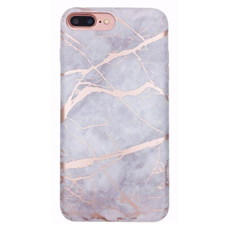 Lavender Gray & Rose Gold Marble Case iPhone Case Get.Casely Classic iPhone 7 Plus