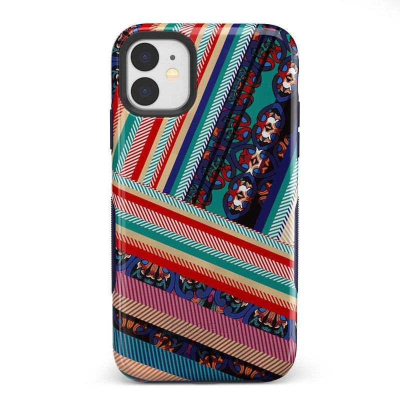 Layered Patchwork iPhone Case iPhone Case Get.Casely Bold iPhone 11