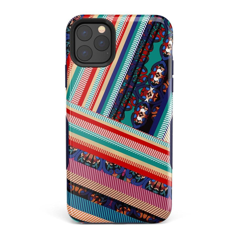 Layered Patchwork iPhone Case iPhone Case Get.Casely Bold iPhone 11 Pro