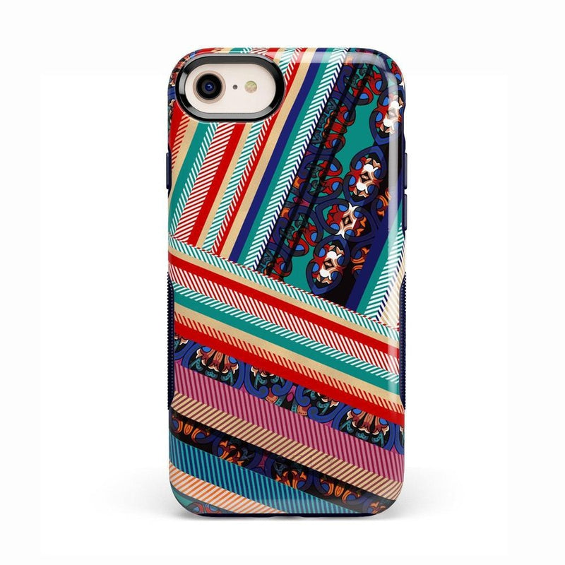 Layered Patchwork iPhone Case iPhone Case Get.Casely Bold iPhone 8