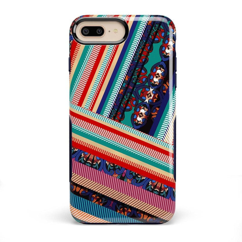 Layered Patchwork iPhone Case iPhone Case Get.Casely Bold iPhone 8 Plus