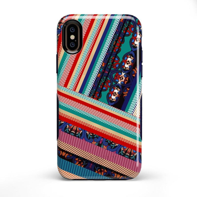 Layered Patchwork iPhone Case iPhone Case Get.Casely Bold iPhone X / XS