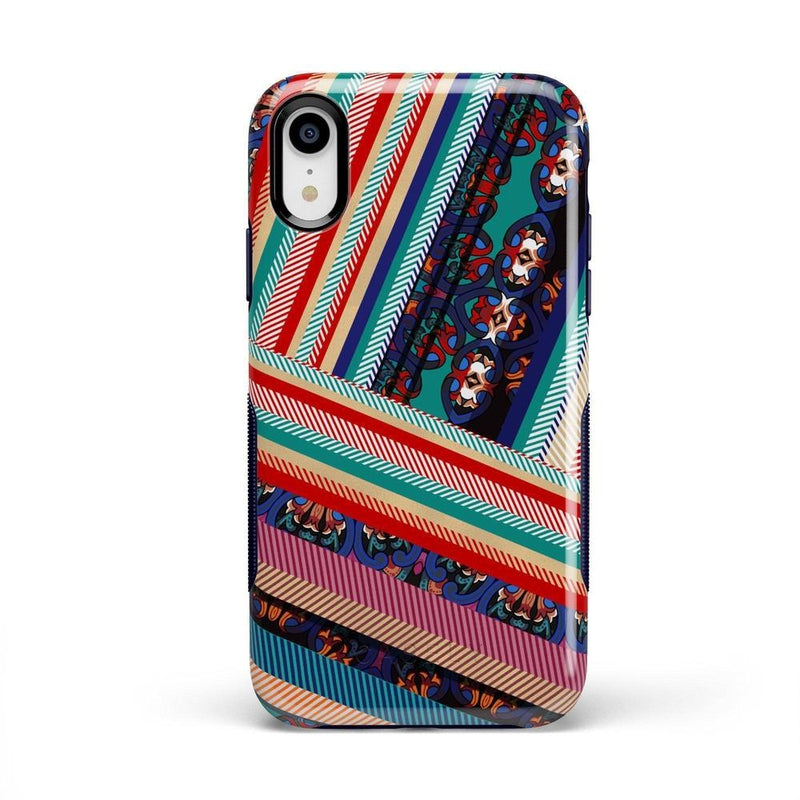 Layered Patchwork iPhone Case iPhone Case Get.Casely Bold iPhone XR