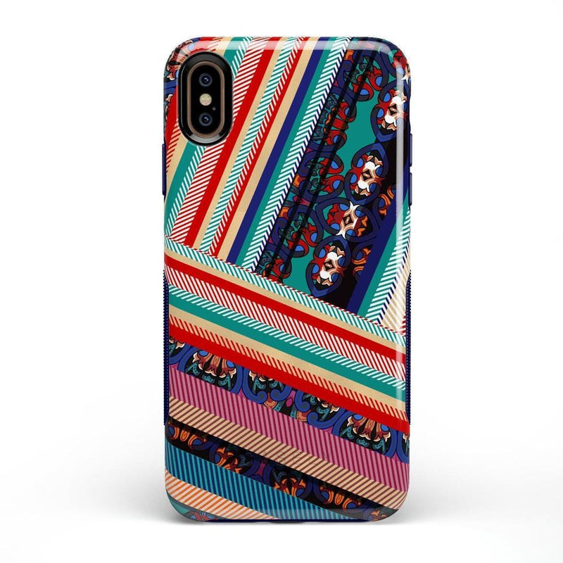 Layered Patchwork iPhone Case iPhone Case Get.Casely Bold iPhone XS Max