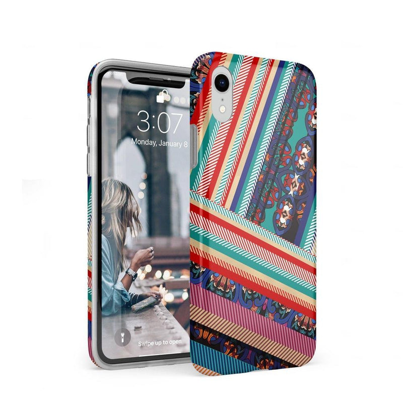 Layered Patchwork iPhone Case iPhone Case Get.Casely Classic iPhone XR