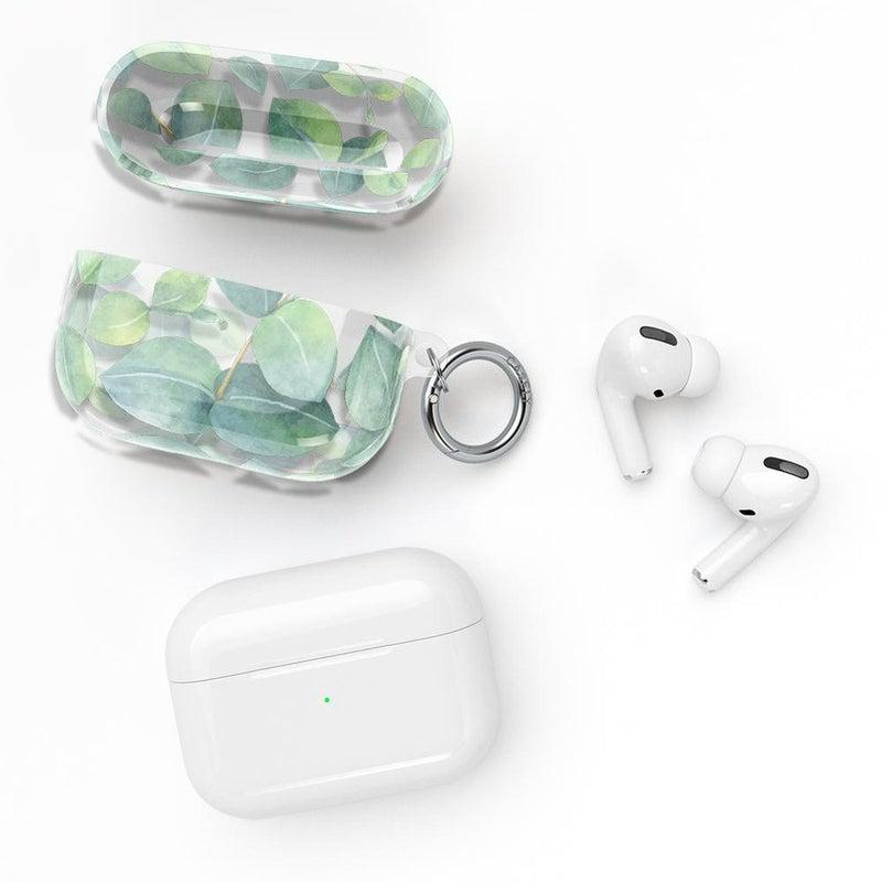 Leaf Me Alone | Green Floral Print AirPods Case AirPods Case CASELY
