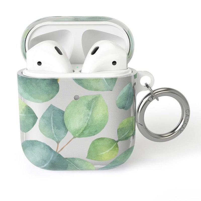 Leaf Me Alone | Green Floral Print AirPods Case AirPods Case CASELY AirPods Case
