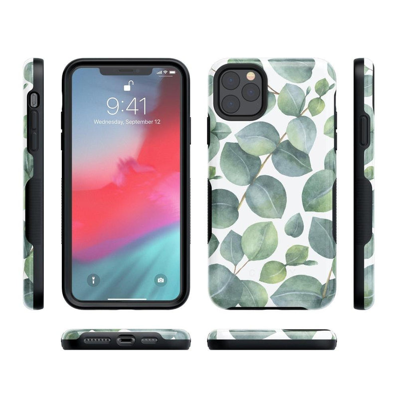 Leaf Me Alone | Green Floral Print Case iPhone Case Get.Casely