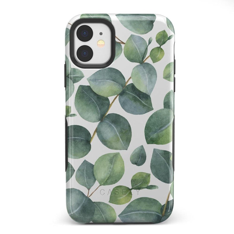 Leaf Me Alone | Green Floral Print Case iPhone Case Get.Casely Bold iPhone 11