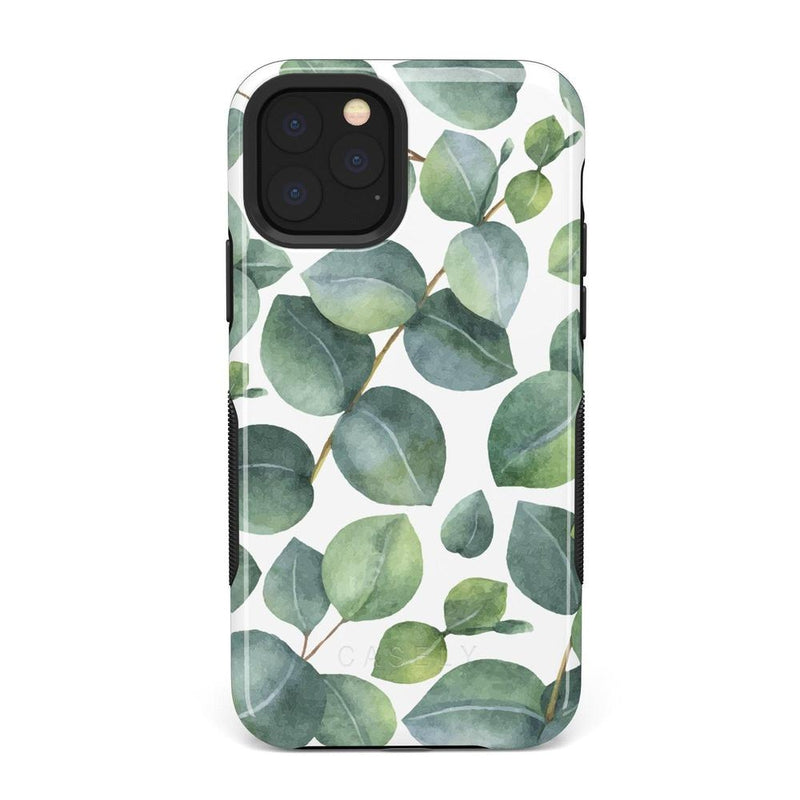Leaf Me Alone | Green Floral Print Case iPhone Case Get.Casely Bold iPhone 11 Pro Max