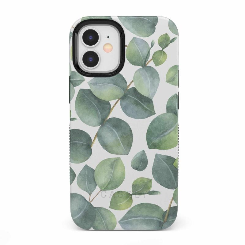 Leaf Me Alone | Green Floral Print Case iPhone Case get.casely Bold iPhone 12 Mini