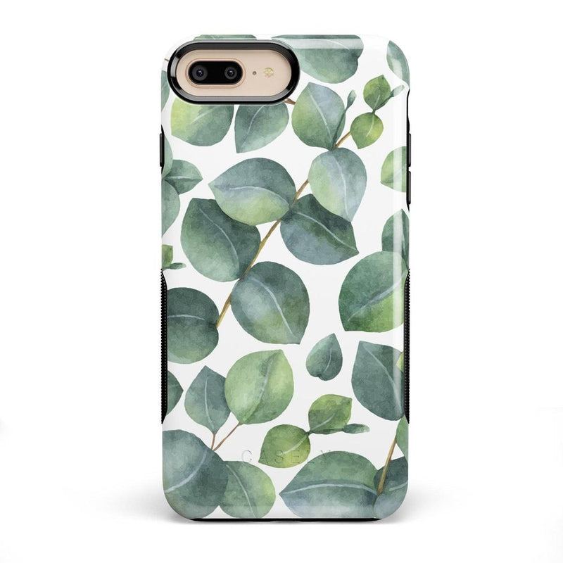 Leaf Me Alone | Green Floral Print Case iPhone Case Get.Casely Bold iPhone 8 Plus