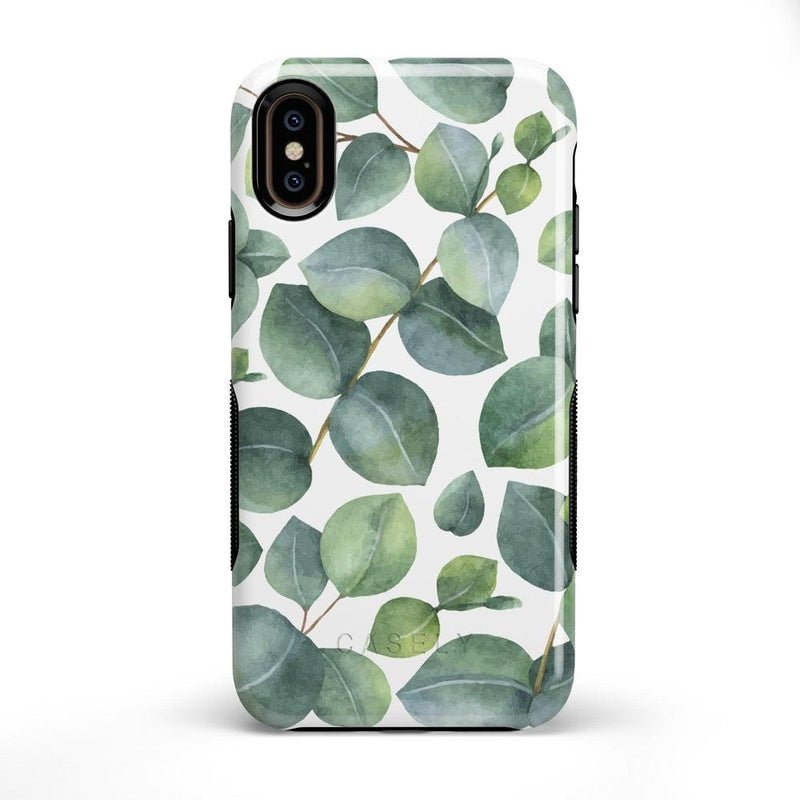Leaf Me Alone | Green Floral Print Case iPhone Case Get.Casely Bold iPhone X / XS