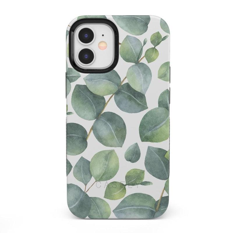 Leaf Me Alone | Green Floral Print Case iPhone Case get.casely Bold + MagSafe® iPhone 12