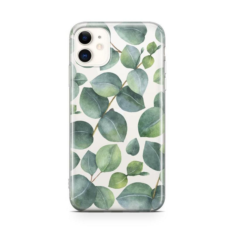 Leaf Me Alone | Green Floral Print Case iPhone Case Get.Casely Classic iPhone 11