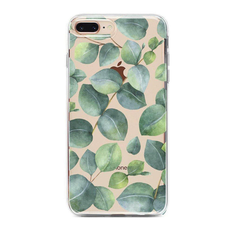 Leaf Me Alone | Green Floral Print Case iPhone Case Get.Casely Classic iPhone 8 Plus