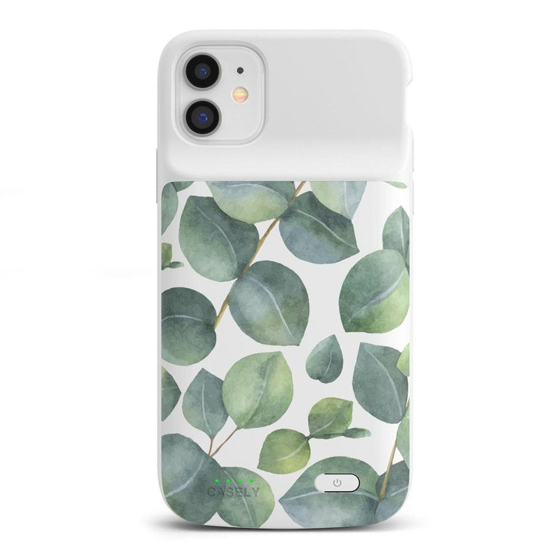 Leaf Me Alone | Green Floral Print Case iPhone Case get.casely Power 2.0 iPhone 11