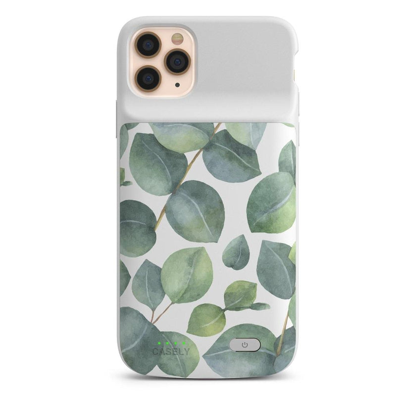 Leaf Me Alone | Green Floral Print Case iPhone Case get.casely Power 2.0 iPhone 11 Pro Max