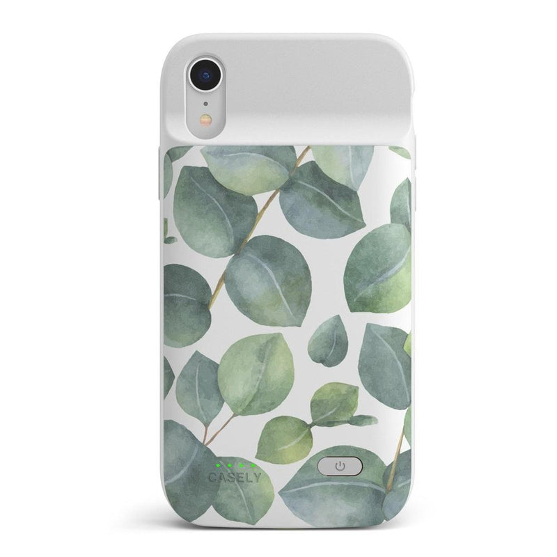 Leaf Me Alone | Green Floral Print Case iPhone Case get.casely Power 2.0 iPhone XR