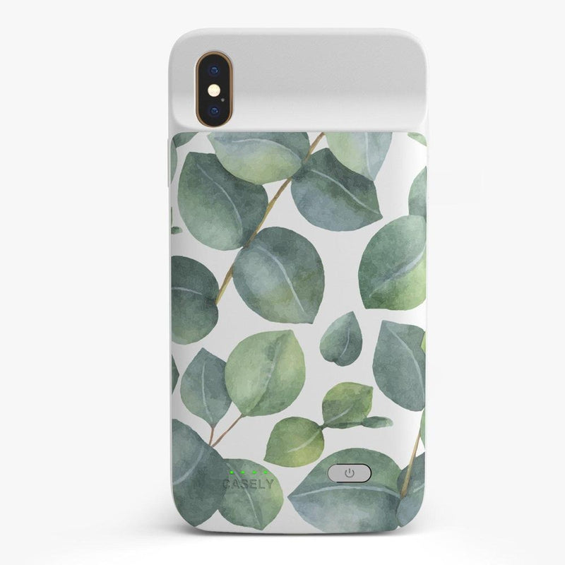 Leaf Me Alone | Green Floral Print Case iPhone Case get.casely Power 2.0 iPhone XS Max