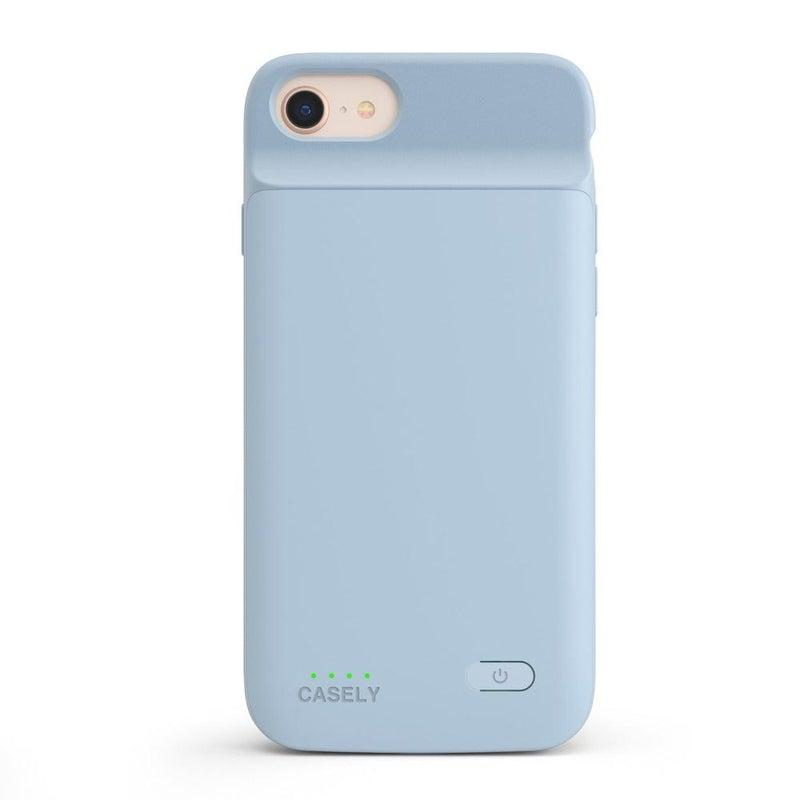 Light Blue Battery-Powered Charging Case iPhone Case get.casely Power 2.0 iPhone SE (2020)