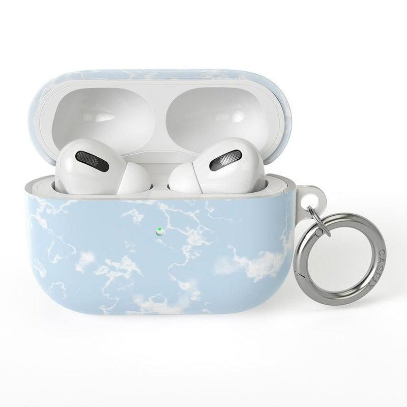 Light Blue Skies Marble Clouds AirPods Case AirPods Case CASELY AirPods Case