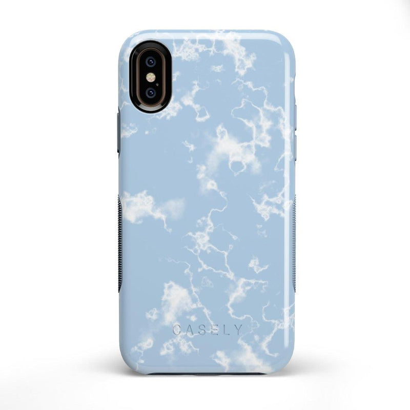 Light Blue Skies Marble Clouds Case iPhone Case Get.Casely Bold iPhone X / XS