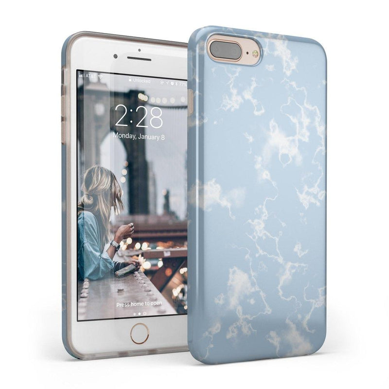 Light Blue Skies Marble Clouds Case iPhone Case Get.Casely Classic iPhone 6/6s Plus