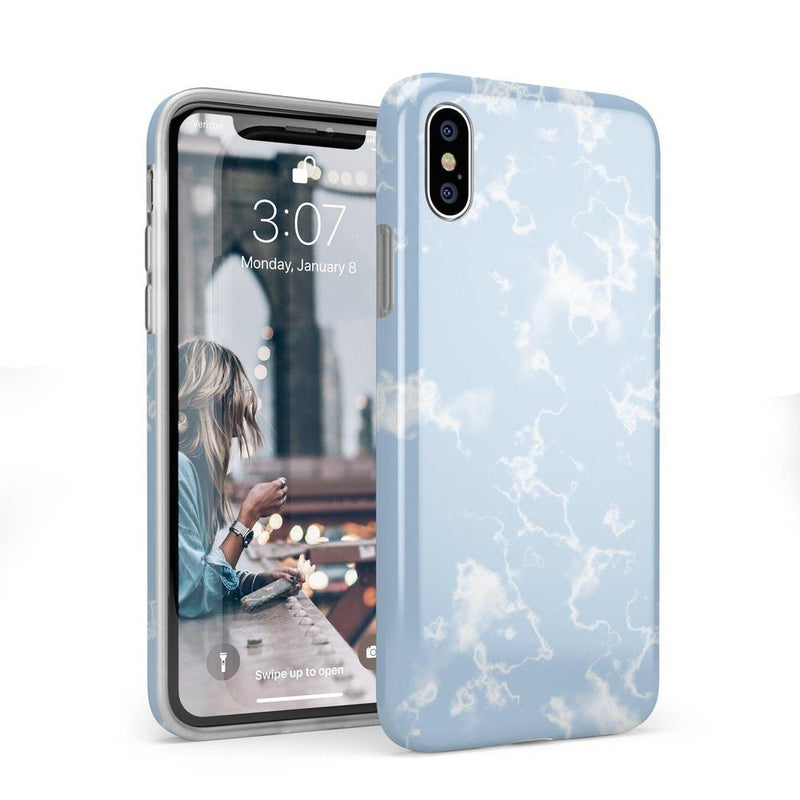 Light Blue Skies Marble Clouds Case iPhone Case Get.Casely Classic iPhone X / XS