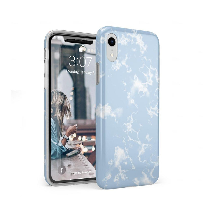 Light Blue Skies Marble Clouds Case iPhone Case Get.Casely Classic iPhone XR