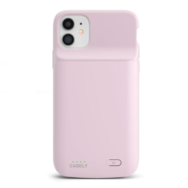Light Pink Battery-Powered Charging Case iPhone Case get.casely Power 2.0 iPhone 11