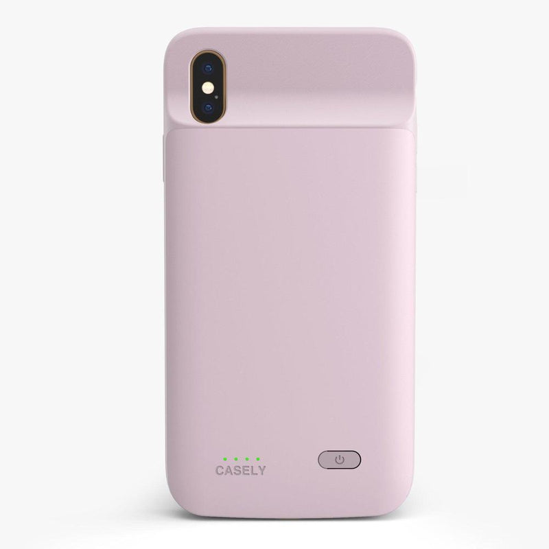 Light Pink Battery-Powered Charging Case iPhone Case get.casely Power 2.0 iPhone XS Max