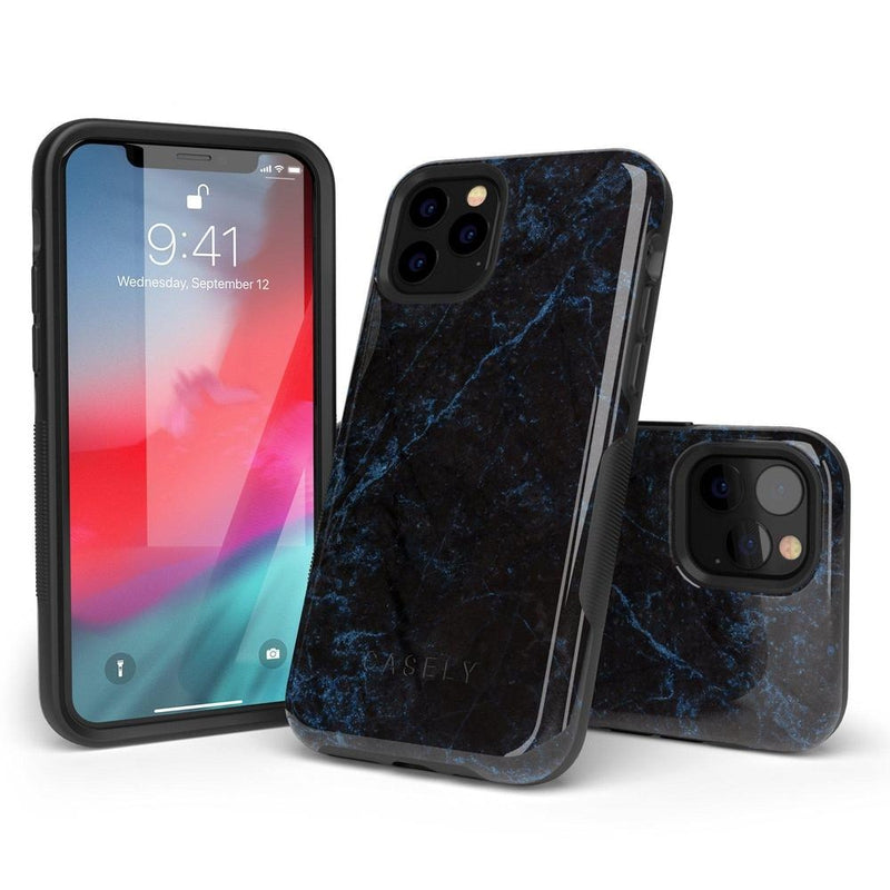 Midnight Marble Black & Navy Case iPhone Case Get.Casely