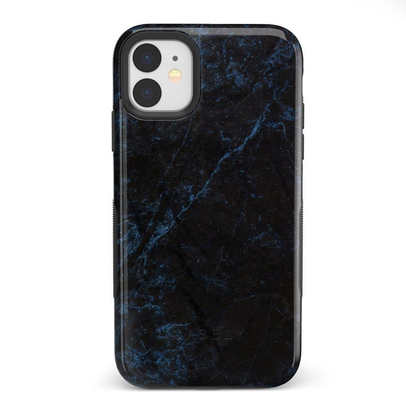 Midnight Marble Black & Navy Case iPhone Case Get.Casely Bold iPhone 11